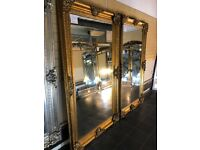 MIRROR WAREHOUSE NEW Large gold Mirrors from £89-£599
