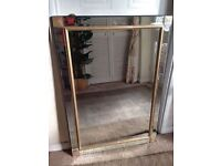 BEVELLED MIRROR FRAMED WALL MIRROR