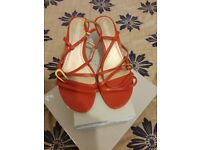 Marco Tozzi red sandals UK 6/6.5
