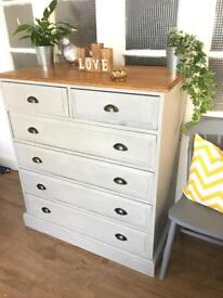 LARGE TALL BOY CHEST FREE DELIVERY LDN 🇬🇧SHABBY chic