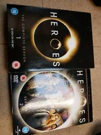 Heroes Seasons 1 and 2 DVDS