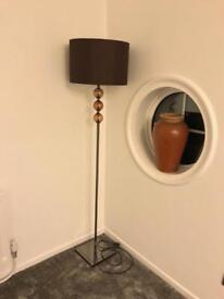 DARK BROWN TALL ROOM LAMP GOOD CONDITION FROM NEXT BED SOFA STORAGE WARDROBE