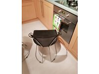 Opaque Glass Kitchen Table & 4 chairs