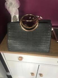 Fake croc skin handbag