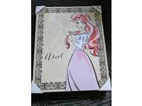 Disney princess Ariel canvas print