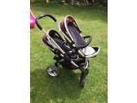 I CANDY PEACH TRAVEL SYSTEM (PUSHCHAIR WITH ADAPTERS FOR DOUBLE USE AND CAR SEAT)