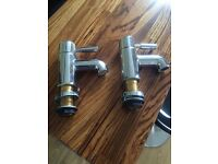 Pair of bathroom Mono basin taps (and matching bath mixer available)