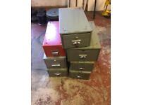 Metal single draw filing cabinets