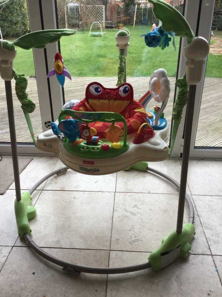 a83341a23 Fisher Price Rainforest Jumperoo Baby Bouncer Jumparoo