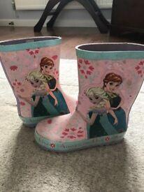 Disney Girls wellies size 11
