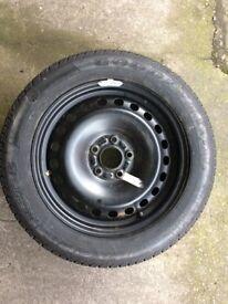205/55R16 tyre, on 2001 mondeo steel wheel, looks unused