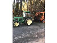 John Deere tractor log trailer