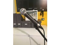 Shure SM58 Microphone Bundle with Mic Stand and XLR Cable