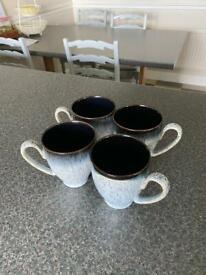 Denby halo mugs x 4