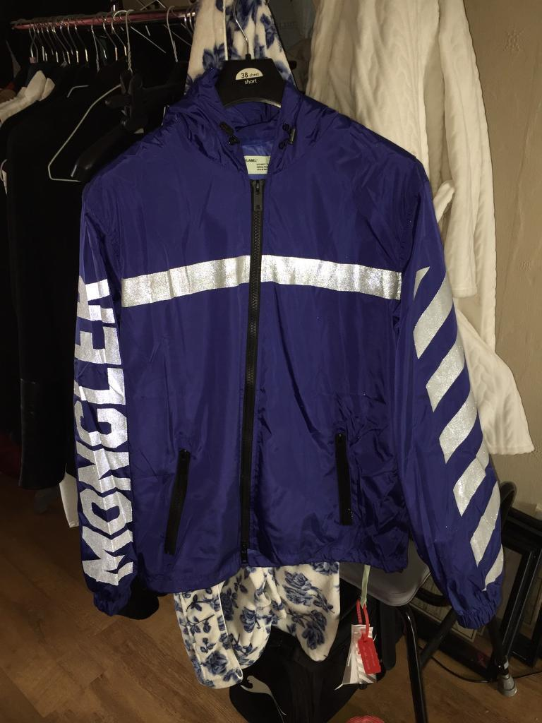 Moncler off white windbreaker jacket