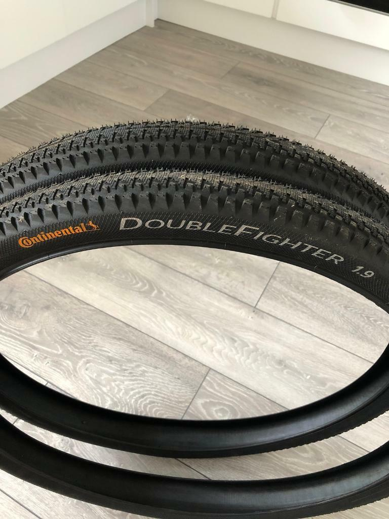 Continental Double Fighter 1.9 tyres in as new condition
