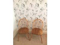 Pair of Vintage Ercol Chairs