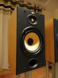 B&W dm601 SPEAKERS ATACAMA NEXUS STANDS