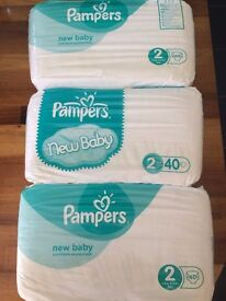 Pampers Nappies Size 2 3 x 40 package