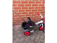 Kettler toddler kids tricycle bike with parent pole/handle
