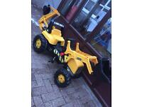 JCB Tractor with Frontloader & Rear Excavtor Pedal Ride on - SOLD