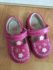 Clark's first shoes size 3F