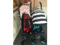 Cosatto bro and sis stroller