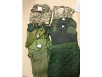 Military clothing and items Army Marines RAF