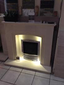 Marble fireplace 48inch with lights