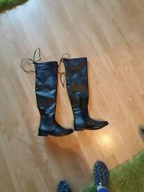 Ladies thigh high boots.. ladies dresses