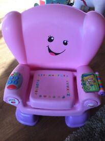 FISHER PRICE LAUGH AND LEARN SMART STAGES PINK ACTIVITY CHAIR