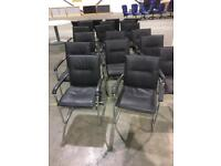 Meeting room chair leather faux 15 available