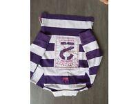 Girls Lazy Jacks striped fleece age 5/6 years