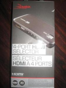 Rocketfish HDMI Switch / HDMI Splitter. Connect TV Display with PS4 / PS3 / Xbox One Game System / Blu Ray DVD Player