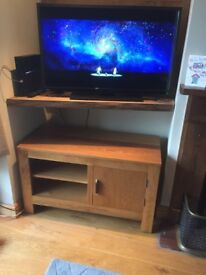 Matching furniture village - wooden coffee table and tv cabinet