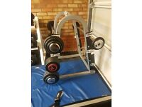 Barbell weights and storage rack 10,25,35 & 40kg