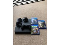 Playstation 4 500gb console with 3 games & controller