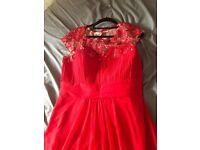 Red bridesmaid dress