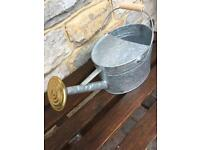 Galvanised watering can new