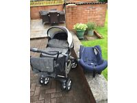 Sliver cross Pram and Car seat