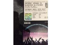 1 ticket to Joshua vs Klitcshko fight at Wembley.