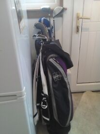 Hippo Bag with Various Clubs