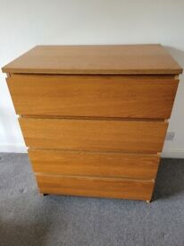 Ikea Malm set of 3 chest of drawers