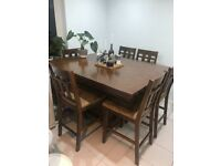 Extendable Dining Table and 8 Chairs