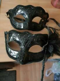 Couples masquerade masks