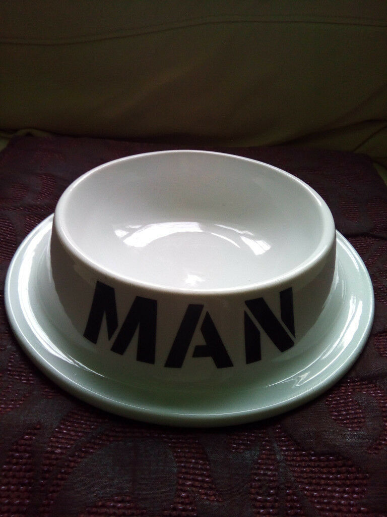 Large Man Bowl, Dog Style Ceramic Meal Dish, Dinner Funny, Humour Gift