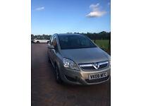 Quick Sale Vauxhall Zafira 2008, 1.6 i 16v Exclusiv MPV 5dr Petrol, Manual, Beige £1350
