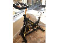 Bodymax B15 Studio Indoor Cycle Exercise Bike (Black) With LCD Monitor (Like New)