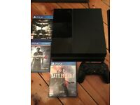 PS4 Black 500gb w/ 3 Great Games