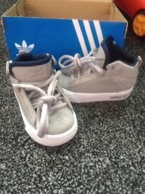 Brand new in box boys size 3 adidas freemont hi tops